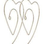 Metal heart earrings.