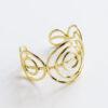 gold spiral cuff adjustable