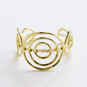 gold spiral adjustable cuff bracelet